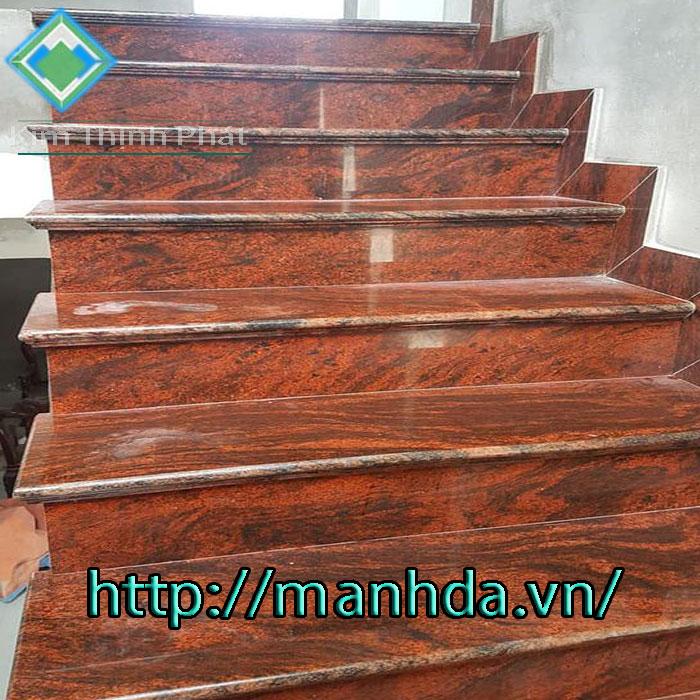 Cầu thang đá hoa cương tự nhiên đỏ sa mạc