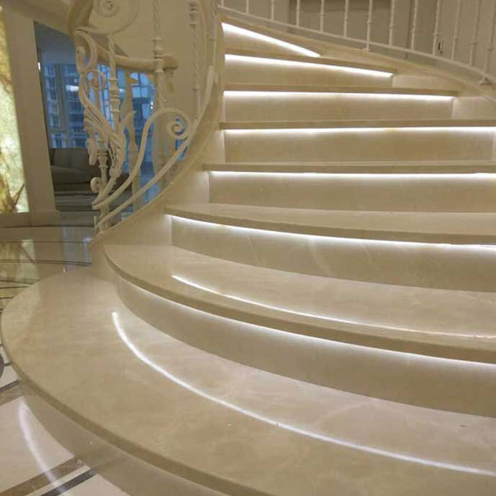 Cầu thang đá vàng cream nowa f5