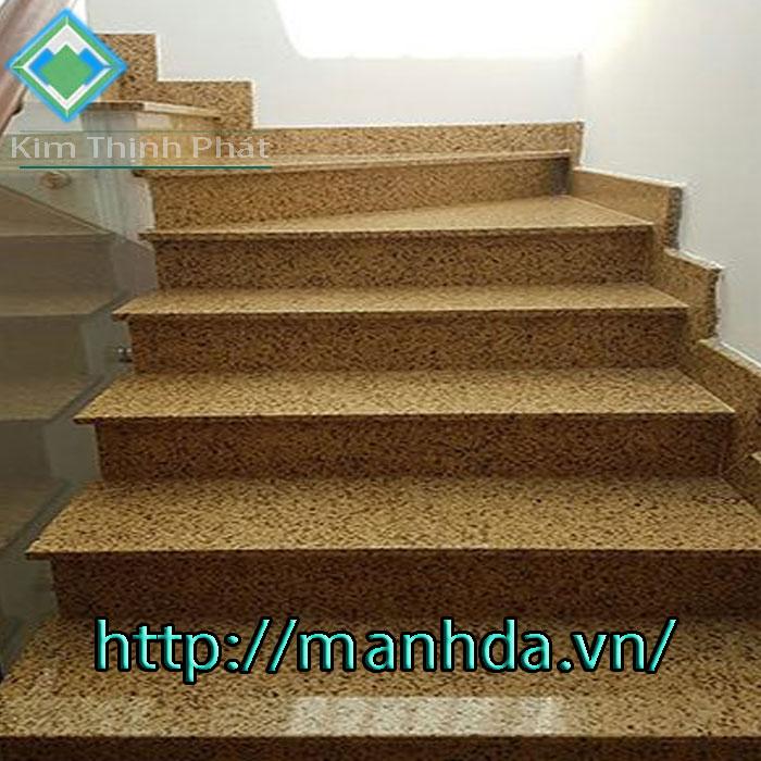Cầu thang đá vàng nhân tạo thạch kim tinh